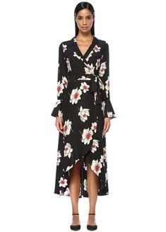 f3695abdcc62f Equipment markalı Siyah renk KADIN Gowin Siyah Çiçek Desenli İpek Midi  Elbise ürününü detaylı incelemek ve online satın almak için hemen  Beymen.com'a ...
