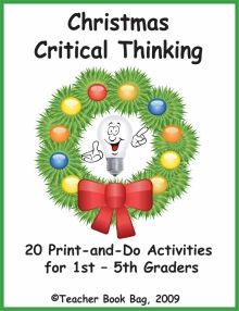 Christmas Critical Thinking - Combining the excitement of the holiday season with the practice of essential reasoning skills, Christmas Critical Think Creative Thinking Skills, Critical Thinking, Teacher Books, Student Gifts, School Days, School Projects, Problem Solving, Christmas Fun, Homeschool