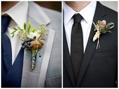 incorporate the season into your groom's boutonniere via Oh Lovely Day | http://su.pr/2As0yw #wedding #groom