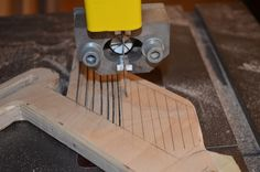 Safety equipment is essential in any shop but it can be expensive to buy. Learn how to make a feather board to use on your table saw.