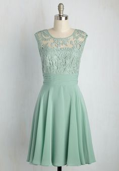 A Toast to Timeless Dress. Raising a glass, everyone in the room honors your mint green dress. #mint #wedding #bridesmaid #modcloth