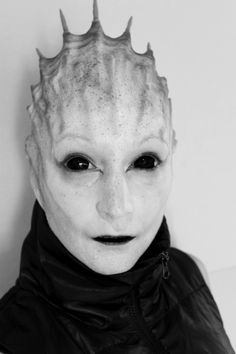 Alien prosthetic makeup created and applied by Rhonda Causton(REEL TWISTED FX)