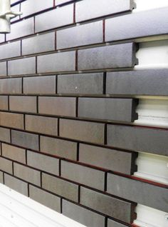 Corium Brick Rainscreen For more info, visit www. Source by Building A Container Home, Storage Container Homes, Container Buildings, Container Architecture, Container House Plans, Architecture Design, Container Cabin, Cargo Container, Container Store