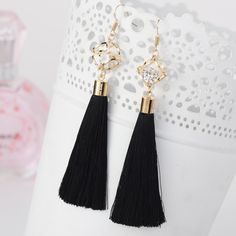 Wholesale 2015 Fashion Jewelry Tassel Crystal Alloy Dangle Earrings Oversize Pendientes Long Earrings For Women ED074 - http://mixre.com/wholesale-2015-fashion-jewelry-tassel-crystal-alloy-dangle-earrings-oversize-pendientes-long-earrings-for-women-ed074/ #DangleEarrings