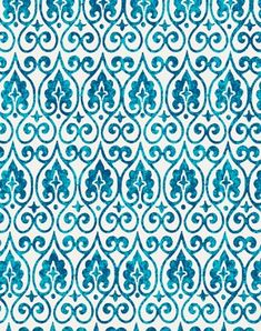 Moroccan Lights Fabric - turquoise, blue & white – My Father's Castle Moroccan Fabric, Moroccan Print, Moroccan Design, Moroccan Style, Arabic Pattern, Pattern Art, Pattern Design, Textures Patterns, Fabric Patterns