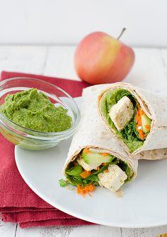 Spinach Hummus Wrap with Tofu