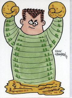 Fred-Hembeck-Color-Sketch-Card-Sandman-Ditko-version-Marvel-1-1
