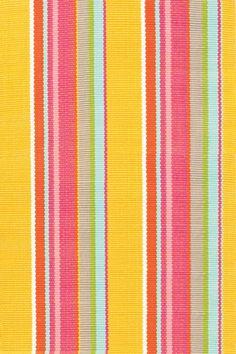 Yellow Stripe Indoor/Outdoor Area Rug