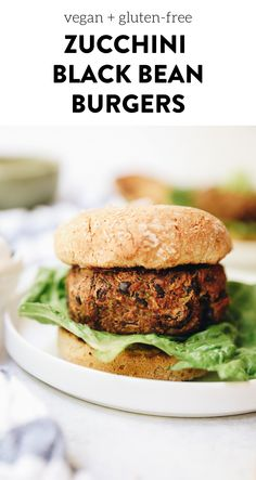 Step up your veggie burger game with these delicious zucchini black bean burgers. Fully vegan and juicy – the perfect substitute for your summer BBQ. #veggieburgers #veganburgers #blackbeanburgers #glutenfree #vegan