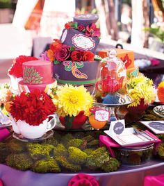 Nisies Enchanted Florist Orange County Alice And Wonderland Adult Birthday Party30th