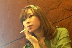 Sweet Japanese girl smoking 73
