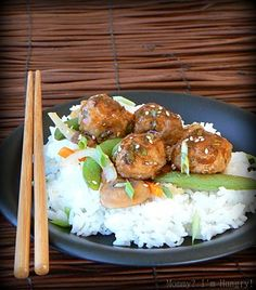 Hoisin Glazed Turkey Meatballs