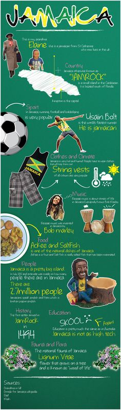 #Funny #Infographics - Facts About Jamaica #Infografia