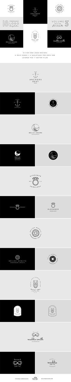 Monoline Premade Logo Templates Vol3 by Rogue Logo on @creativemarket