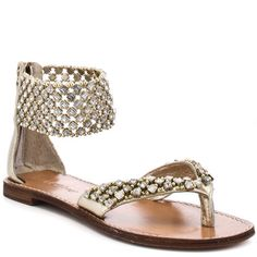 OMStars! I'm in love with these sandals. Come back Summer, come back! ZIGINY : INSTINCT FLAT- GOLD