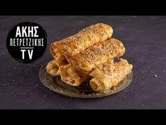 Δίπλες Επ. 20 | Kitchen Lab TV | Άκης Πετρετζίκης - YouTube Greek Cake, Greek Pastries, Honey Syrup, Greek Recipes, Quick Easy Meals, Apple Pie, Rolls, Breakfast, Sweet