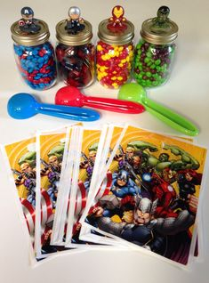 Marvel Superhero Candy Buffet Birthday