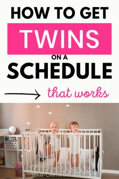 Learn how to get twins on a schedule. This step by step guide takes away the stress and helps you get your twins on the same schedule. #twins #newborntwins #sampleschedules #twinschedules #twinfeeding #twinsleep #babywise #babywiseschedule Team-Cartwright.com