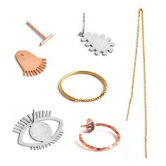 handmade fine jewelry made in vienna - earrings and ear jackets - minimal handcrafted jewellery made of gold, silver, rosegold Fine Jewelry, Jewelry Making, Jewellery, Handcrafted Jewelry, Handmade, Minimal Jewelry, Washer Necklace, Rose Gold, Photo And Video