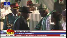 News@10: Jonathan Bestows National Honours On 313 Nigerians 290914 Pt.1