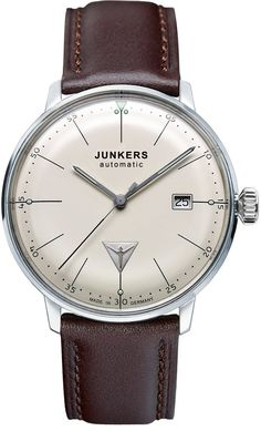 Junkers Watch Bauhaus #2015-2016-sale #bezel-fixed #black-friday-special #bracelet-strap-leather #brand-junkers #case-depth-11mm #case-material-steel #case-width-40mm #classic #date-yes #delivery-timescale-1-2-weeks #dial-colour-cream #gender-mens #moveme https://timetogetone.myshopify.com/