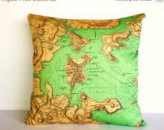 SALE SALE SALE Map pillow decorative pillow by mybeardedpigeon