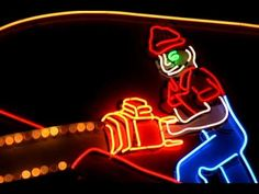 Animated Neon Sign: Boulder Creek
