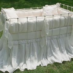 sorrento organic cotton crib bedding by Lulla Smith
