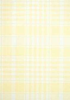 Rut Plaid Wallpaper Pale Yellow and white plaid wallpaper. Expensive.