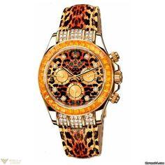 Rolex Cosmograph Daytona Leopard 18k Yellow Gold Men's Watch Model No. 116598 SACO