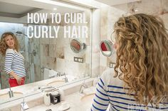 Messy 2nd day hair?  How to re-style curly hair.