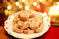 Tunnbrödssnurror med lax, färskost, pepparrot och äpple - Landleys Kök