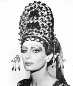 Capucine for Fellini Satyricon 1969.