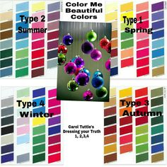 Color me Beautiful colors Carol Tuttle's DYT type 1,2,3,4