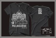 Souvenir t-shirt for Melbourne by gravisi   Melbourne   Pinterest ...