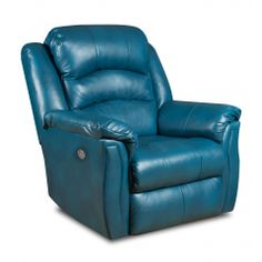 You'll ❤ The Southern Motion Max Power Headrest Rocker Recliner Peacock Green Leather Swivel Recliner Chairs, Recliner With Ottoman, Leather Recliner, Arm Chairs, Wall Hugger Recliners, Lift Recliners, Southern Motion Recliner, Green Armchair, Reclining Sofa