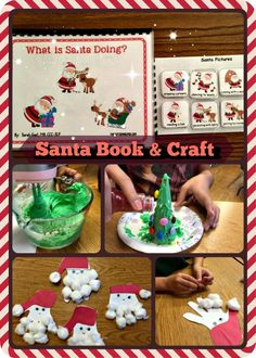 """What is Santa Doing?"" - Santa Book & Craft target differentiating action verbs & sequencing to make those last days of school work before the holiday break  tons of fun! from theautismhelper.com"