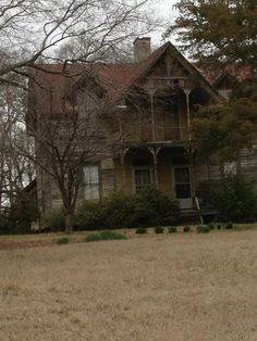 Spooky House in my hometown...look good and there are eyes cut-out on the top front of home