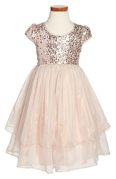 Pippa & Julie Sequin Cap Sleeve Dress (Toddler Girls & Little Girls) available at #Nordstrom