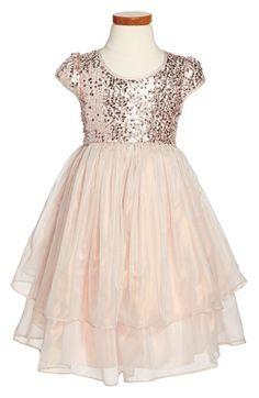 Pippa & Julie Sequin Cap Sleeve Dress (Toddler Girls & Little Girls) available at #Nordstrom