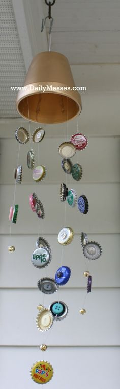 Daily Messes: Wind Chimes I will definetely be crafting this over summer! So cute!