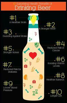 Health Benefits of Beer Infographic Health Benefits of Beer Infographic - Fresh Drinks Benefits Of Drinking Beer, Beer Health Benefits, All Beer, Wine And Beer, Best Beer, Beer 101, Beer Brewing, Home Brewing, Beer Infographic