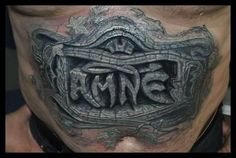 D Stone Tattoo Designsd Tattoos Dimensional Tattoo Designs Gallery . Amazing 3d Tattoos, Best 3d Tattoos, Tattoos 3d, Body Art Tattoos, Stomach Tattoos, Sleeve Tattoos, Tatoos, Tattoo Cover Up, Epic Tattoo