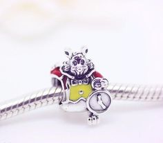CHARMS - Sterling Silver Alice In Wonderland Rabbit Charm