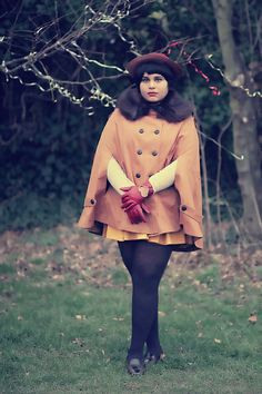 love the coat and gloves!  via curiousfancy