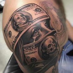 einzigartige Geld Tattoo Designs & Bedeutungen – Get It All – Tattoo Ideen Unique Money Tattoo Designs & Meanings – Get It All # Meanings … Cute Hand Tattoos, Best Sleeve Tattoos, Leg Tattoos, Body Art Tattoos, Girl Tattoos, Stomach Tattoos Women, Thigh Tattoo Quotes, Full Body Tattoo, 16 Tattoo