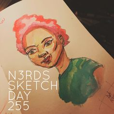 Playing with water colors. #watercolor #sketchaday #artlove #penandink #nerds #sketchbook #sketch_daily #artnerd #acompanyofn3rds #dopeart #imayneednewglasses  #art_boost #n3rds #blerds #geeks #illustration #camu #moleskine #arts_help #artists_community  #Iamanartist