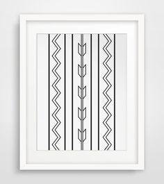 Aztec Wall Art Southwestern Print Aztec Art by MelindaWoodDesigns #aztecprints #minimalistdecor