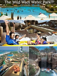 """The Wild Wadi water park is most famous water park in Dubai situated next to Burj Al Arab and the Jumeirah Beach Hotel. Another highlight of the Wild Wadi Park is an artificial 59 ft waterfall. It attracts visitors from around and the world and is in one of the """"Must Visit"""" list of every tourist."""