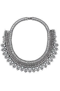 Stella & Dot Palladian Necklace   Glass, Hematite & Mixed Metal Bib Necklace www.stelladot.com/allisonkrueger